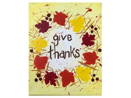Adult Class Give Thanks Canvas Painting 11/21