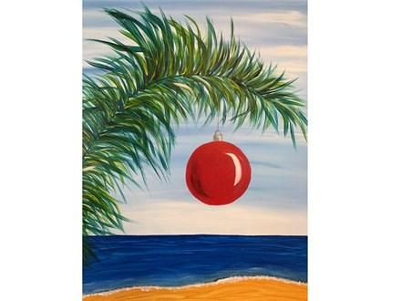 Canvas & Wine Night!  Florida Christmas! 11/23/18
