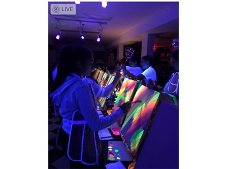 Black Light Neon Canvas Painting Party Package