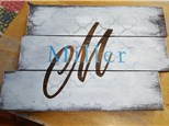 Paint N Party Rustic Name sign
