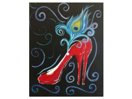 Red Slipper Sophistication - Paint & Sip - Feb 24