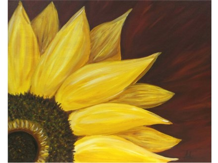 Sunflower - red background