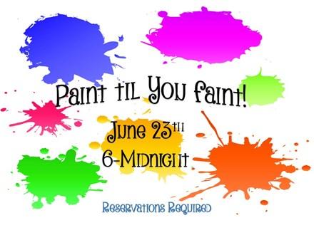 Paint Til You Faint Night (9/30)