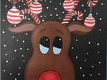 Kids & Adults Reindeer Canvas - December 14th