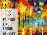 Impressionist painting like Leonid Afremov