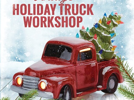 Holiday Truck Workshop at Color Me Mine - Mill Creek, WA