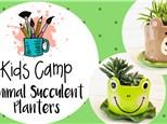 Mud Monday Kids Camp - Animal Pals Succulent Pots - 7/13/20