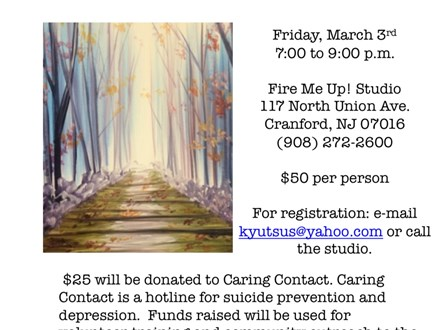 Caring Contact Fundraiser at Fire Me Up! Studio