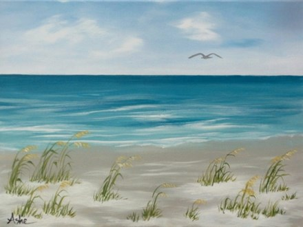 Ocean View - canvas size 12x16