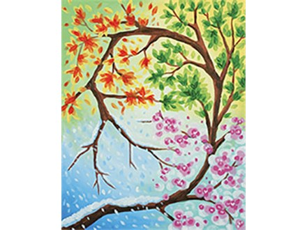 Changing Seasons Canvas Class at CozyMelts