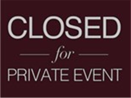 Closed for a Private Event- No Class (May 26th)