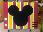 """""""Mickey Mouse Week"""" - Mickey Canvas Painting, Crafts, & Movie! Friday, August 14th: 10am-3pm"""