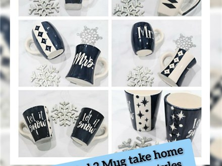 Mid Mod 2 Mug Paint at Home Kit