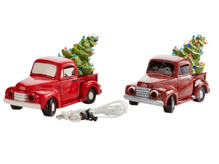 Ceramic Vintage Truck, Woody Wagon, and Christmas Tree