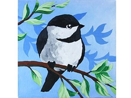 Canvas & Wine Night!  Little Chickadee!  11/17/16