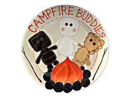 S'more's Campfire Buddies Plate