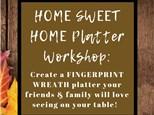HOME SWEET HOME Platter Workshop at Color Me Mine - Henderson, NV 11/14/18