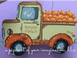 Pumpkin Patch Truck Wood Pallet