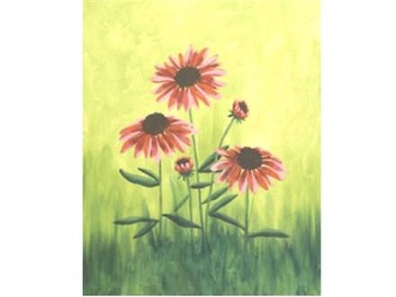 Canvas & Wine Night! Field Flowers! 3/20/18