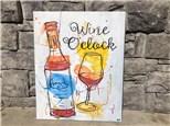 Wine O clock canvas