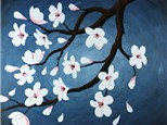 Adult Canvas Night April 2nd Cherry Blossoms