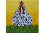Rooster - 12x12 canvas