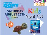 Ticket for Crazy Glaze Studio's Kids Night Out August 25th