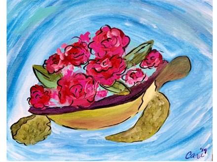 Floral Sea Turtle