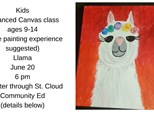 Kids Community Ed Advanced Canvas-Llama