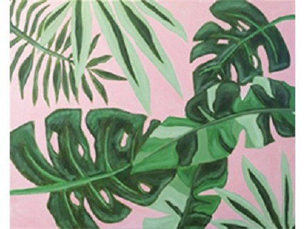 "Paint & Sip ""Tropical Leaves"""