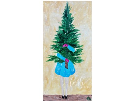 Christmas Tree Girl Paint Class - Perry