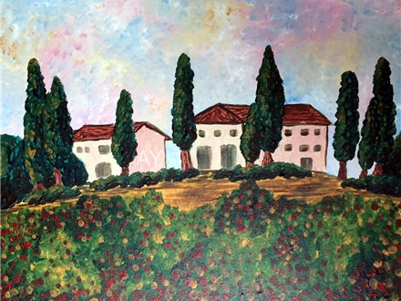 Tuscan Villa--Canvas & Cocktails