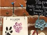 """""""Pet Prints"""" Keepsake Plaque"""