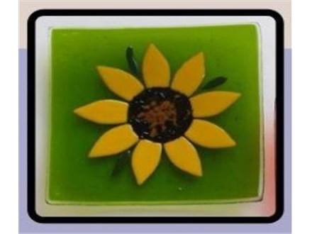 Glass Fusion Sunflower