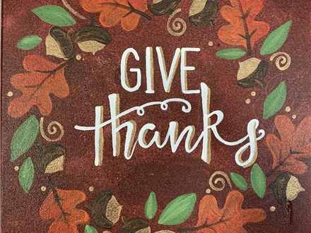 Thanksgiving Canvas Nov. 22