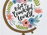 What a Wonderful World Canvas Class at CozyMelts