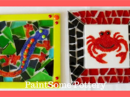 Glass Fusing Party at PAINTSOME POTTERY