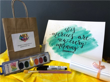 "ToGo Kit w/ Instructional Video: ""Modern Calligraphy with Watercolor"""