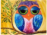 Colorful Owl - Canvas - Paint and Sip