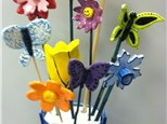 Flowers and Butterflies handmade from clay