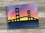 """Mackinac Bridge"" Canvas Class ages 8 & up 8/13/20"