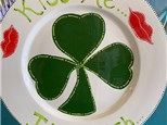 """Kiss Me I'm Irish"" Plate for Adults - February 15th"