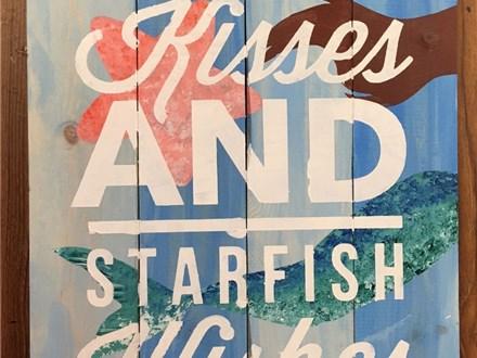 Board Art - Mermaid Kisses and Starfish Wishes - 08.31.18
