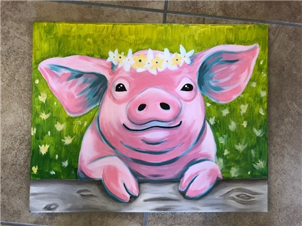 Adult Canvas - Poppy the Pig - 05.25.19