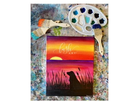 Sunset Pup Paint Class