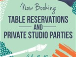 Private Studio Table Reservation at Color Me Mine Princeton