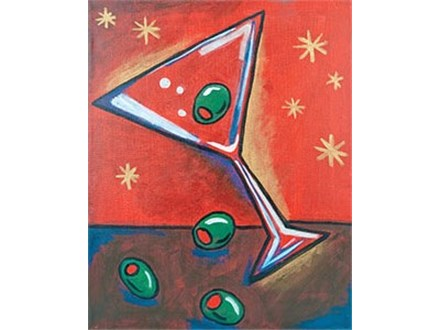 """""""Dirty Martini"""" Canvas Class, August 25th"""