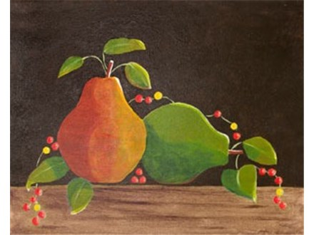 """""""Pears & Bittersweet"""" Canvas Class, September 27th"""
