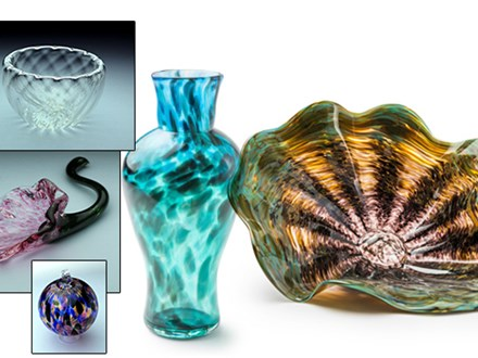 Small:  implosion bowl, flower, ornament Large:  Small:  implosion bowl, flower, ornament Large:  Vase or Plate Form