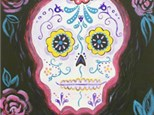 """"""" Sugar Skull """"Canvas Paint Night( Thur, Oct 24 from 6-9pm)Color  Me Mine Aspen"""